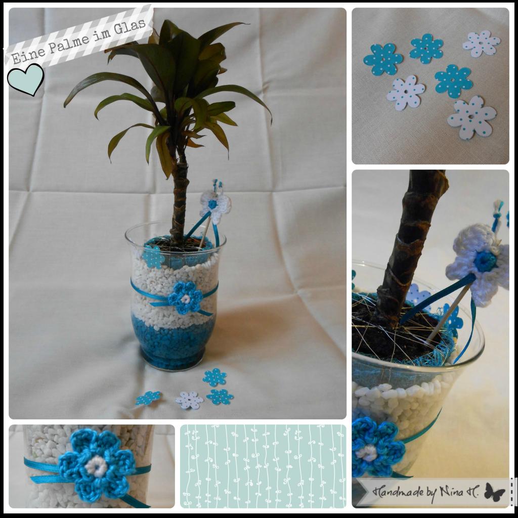 Eine Palme im Glas - Collage