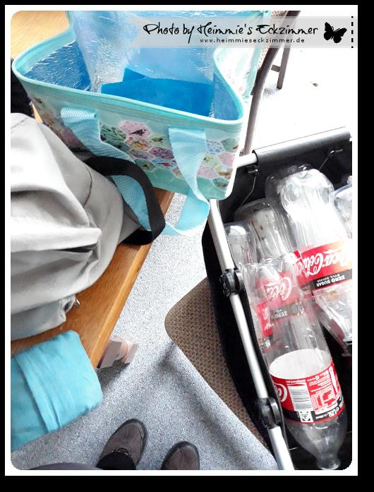 Vorbereitungen. Meine ganzen Einkaufstaschen.