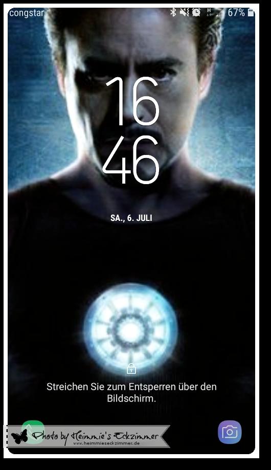 Tony Stark Bildschirmhintergrund vom Handy.